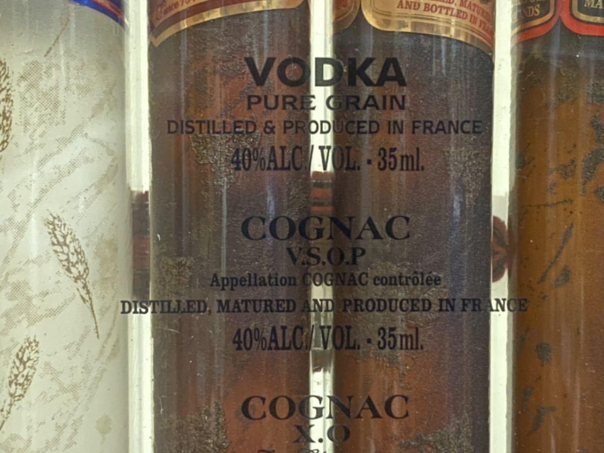 古酒 未開栓 ウォッカ コニャック X.O スコッチウイスキー シガーボトル 未開封 ミニボトル 4本セット ミニチュアボトル まとめて VSOP_画像3