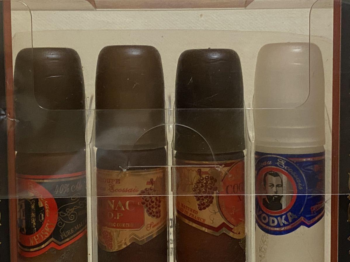 古酒 未開栓 ウォッカ コニャック X.O スコッチウイスキー シガーボトル 未開封 ミニボトル 4本セット ミニチュアボトル まとめて VSOP_画像10
