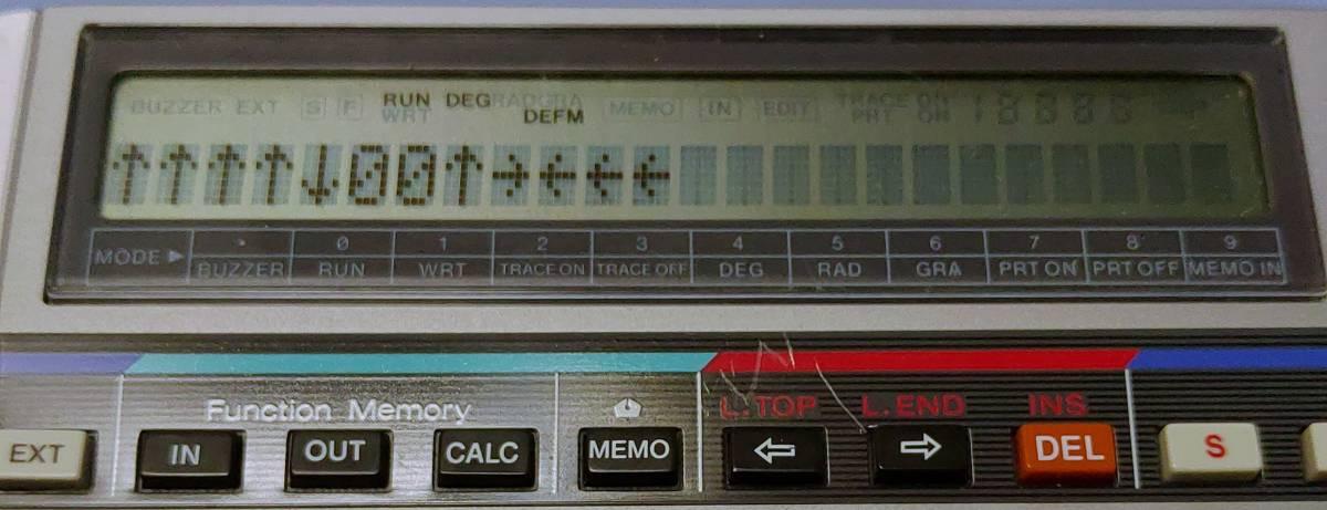 CASIO FX-730P 本体のみ 動作確認済_PB-100用のプログラムをロードして実行