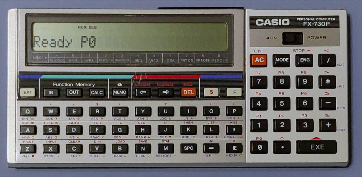 CASIO FX-730P 本体のみ 動作確認済_正面