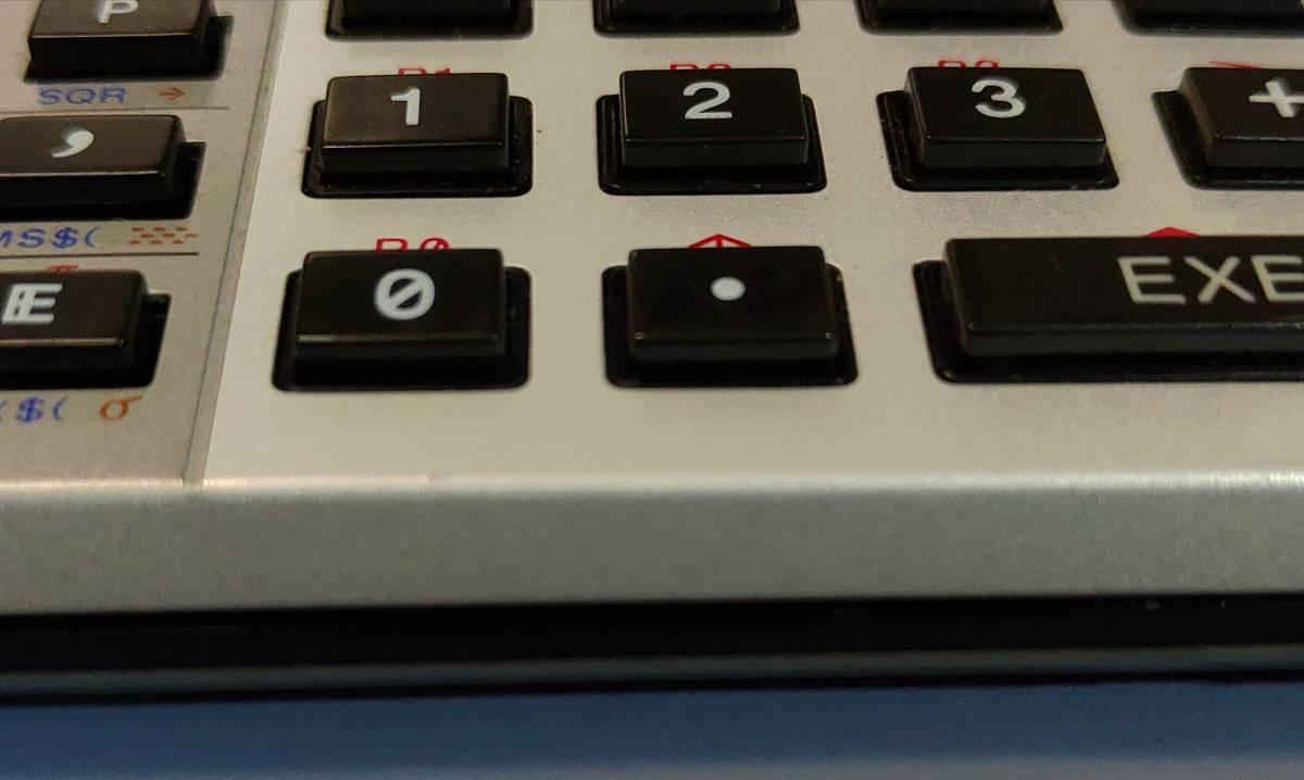 CASIO FX-730P 本体のみ 動作確認済_0キーの下部の角に僅かな凹み