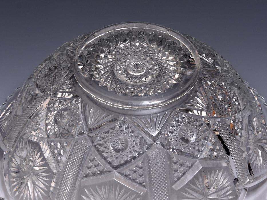 ボヘミア Bohemian Glass クリスタルガラス ボウル 深鉢 プレスガラス 硝子 ガラス工芸 西洋美術 現代工芸 b9010o_画像5