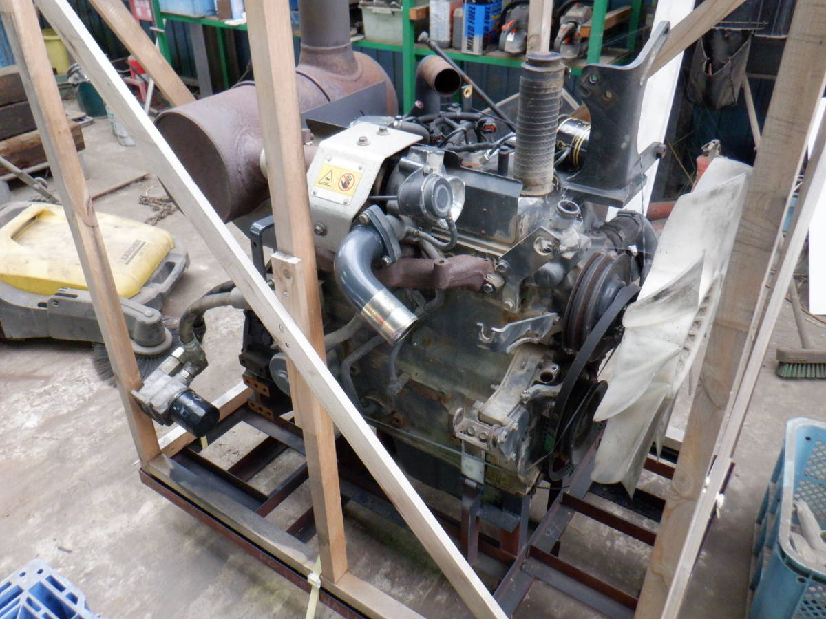 エンジン 4D95LE コマツ KOMATSU 油圧ショベル タイヤショベル ホイールローダー ブルドーザ 建設機械 重機 建機 札幌 北海道_画像7
