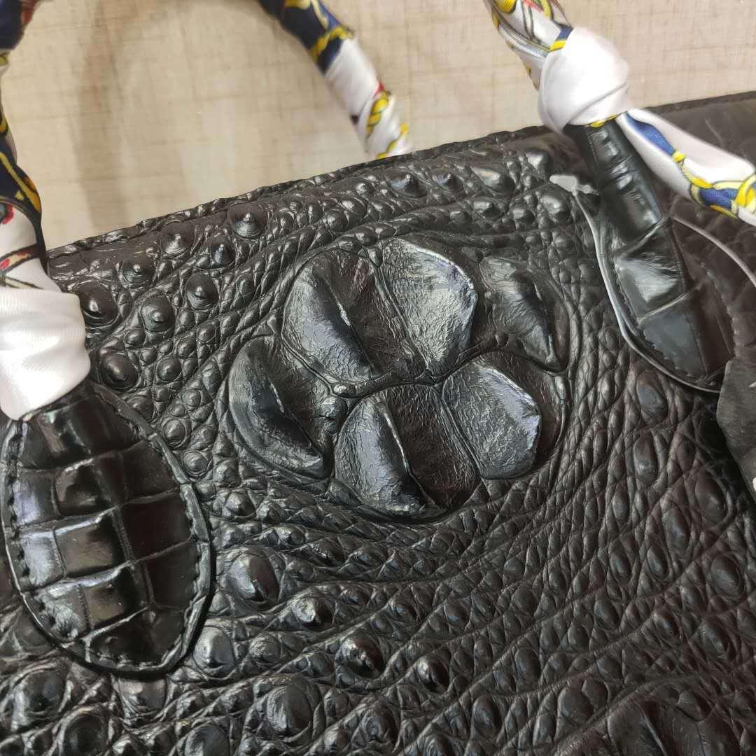 【激安】天然ワニ革 クロコダイルレザー ハンドバッグ 手提げ トートバッグ 書類かばん レディース 本革 鞄 ファッション 大容量 綺麗_画像7