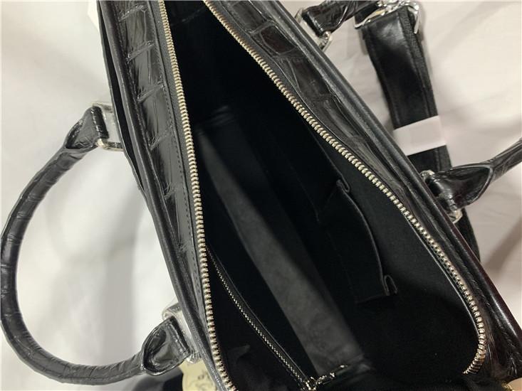 【激安】クロコダイルレザー ブリーフケース トートバッグ ビジネスバッグ 書類鞄 ハンドバッグ メンズバッグ ワニ革 本革 2WAY A4対応_画像6