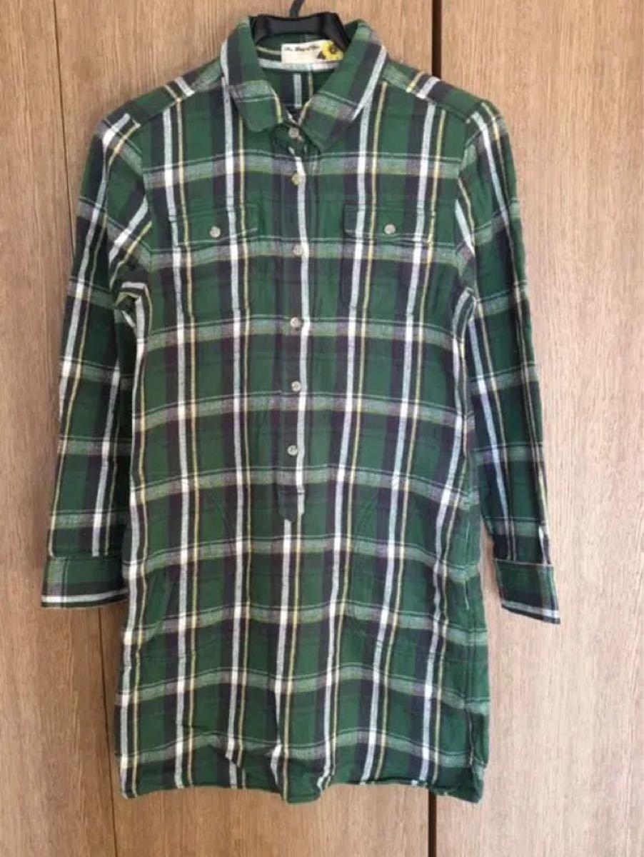 【Ray Beams ワンピース】ビームス シャツワンピース チェックシャツ