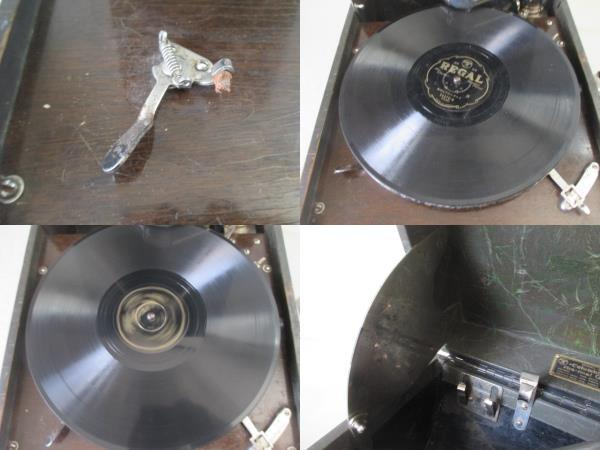 ◆TA3241◆ポータブル蓄音機/コロンビア/No-212/二重ゼンマイ式/動作品◆_画像5