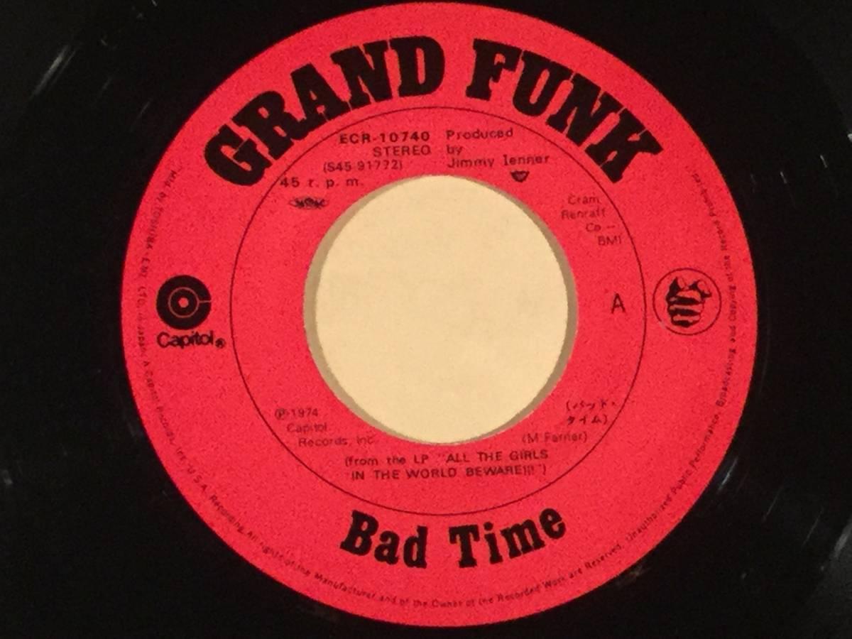 シングル盤(EP)▲グランド・ファンク・レイルロード『バッド・タイム』『グッド・アンド・エヴィル』※来日記念盤▲良好品!_画像3