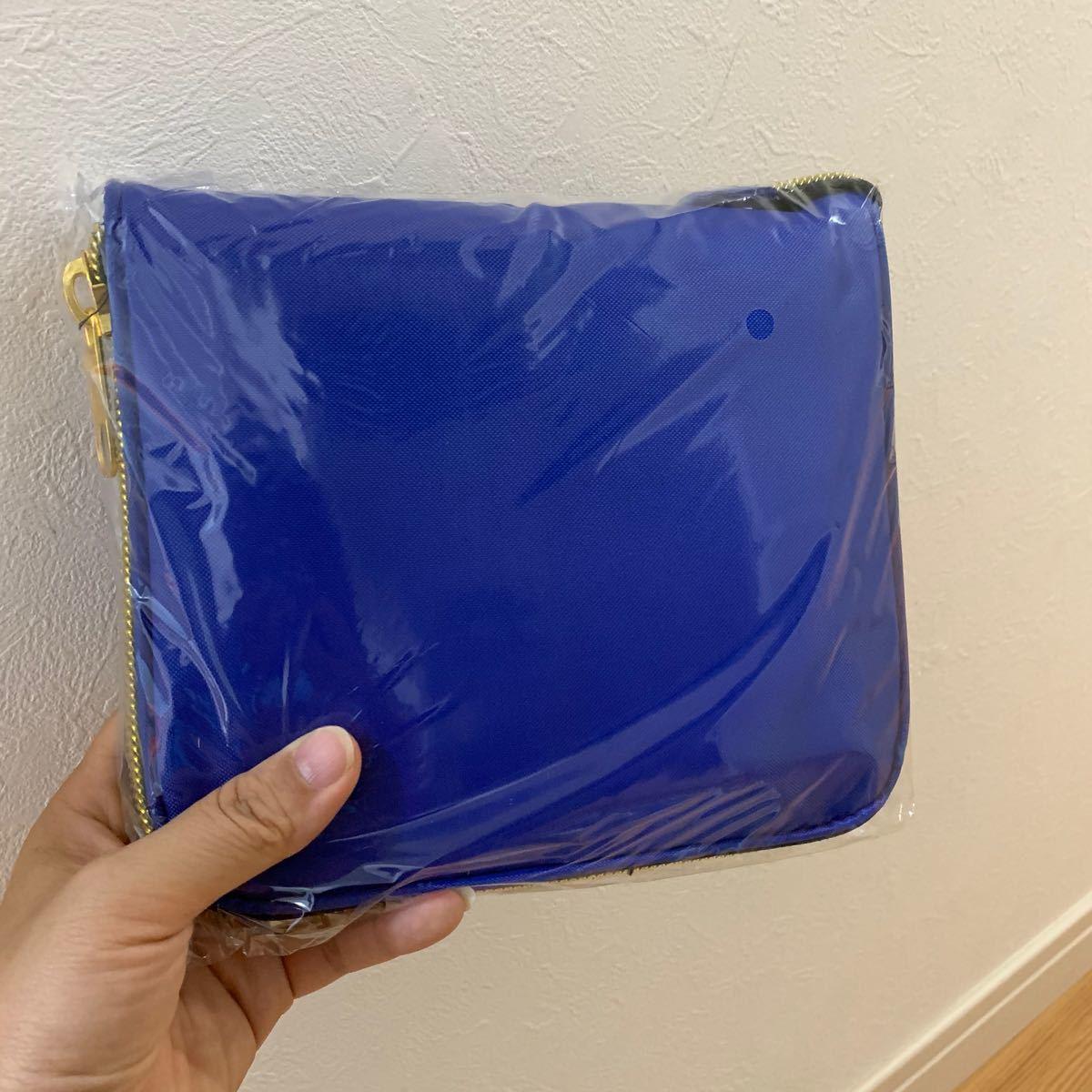 【新品】レジカゴバッグ 保冷保温折りたたみ エコバッグ 大容量マイバッグ ブルー