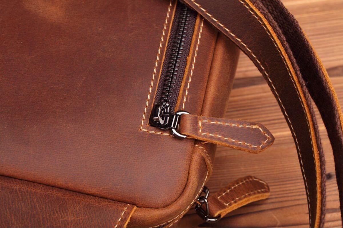 斜め掛けバッグ 本革 高品質 メンズバッグ ボディバッグ