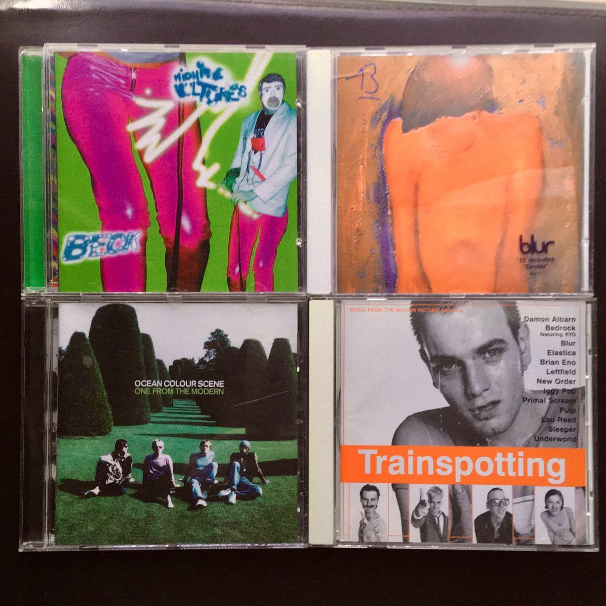 洋楽 CDセット ベック ブラー オーシャンカラーシーン トレインスポッティング