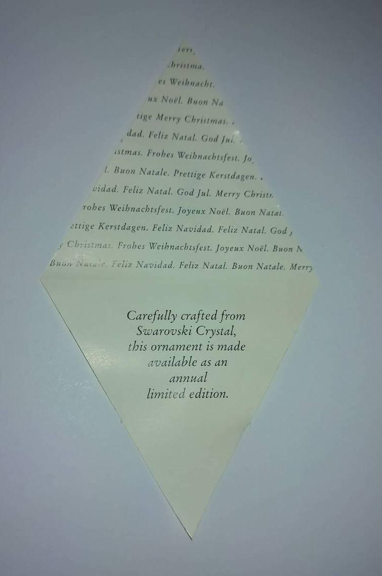 ★スワロフスキー 1998 クリスマスオーナメントです。★_画像4