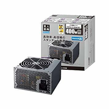 400W 玄人志向 STANDARDシリーズ 80 PLUS 400W ATX電源 KRPW-L5-400W/80+_画像1