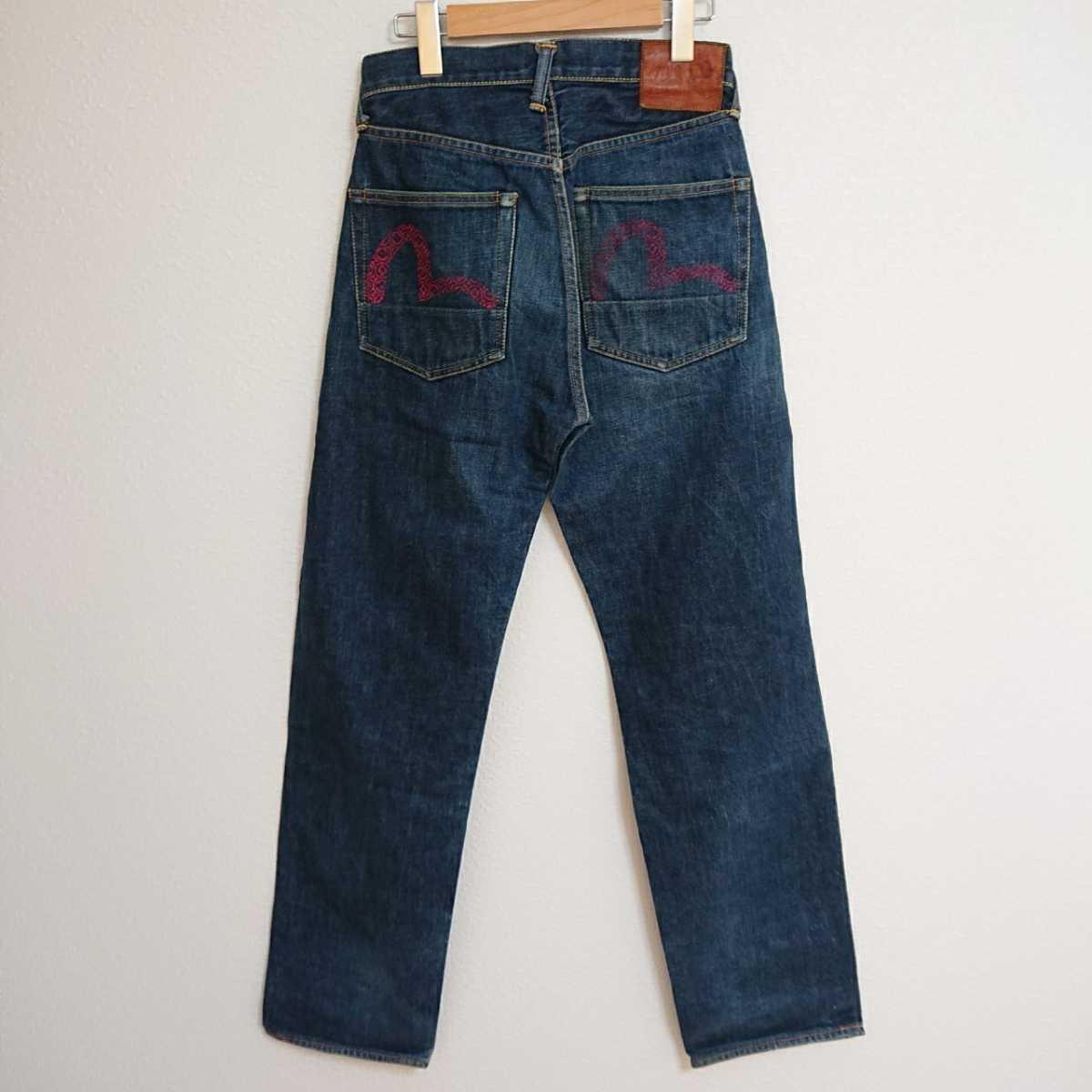 EB9L◆EVISU エヴィスジーンズ◆サイズ 29×34インチ 73cm位 S位 ジーンズ ジーパン デニム ブルー メンズ 日本製 綿100% ボタンフライ