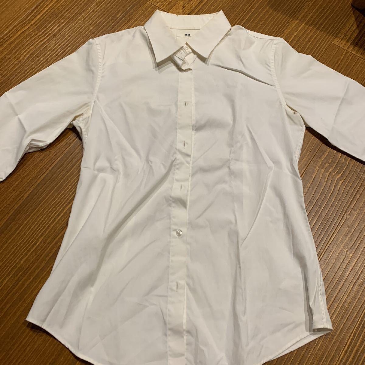 長袖シャツ ワイシャツ 白シャツ フォーマル ユニクロ 秋服
