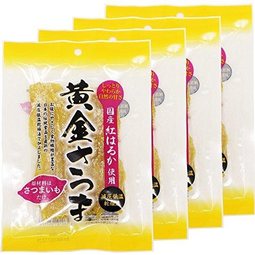4袋セット 黄金さつま 国産 無添加 こだわり 干し芋 紅はるか使用 北海道生産 (100g×4袋セット)_画像1