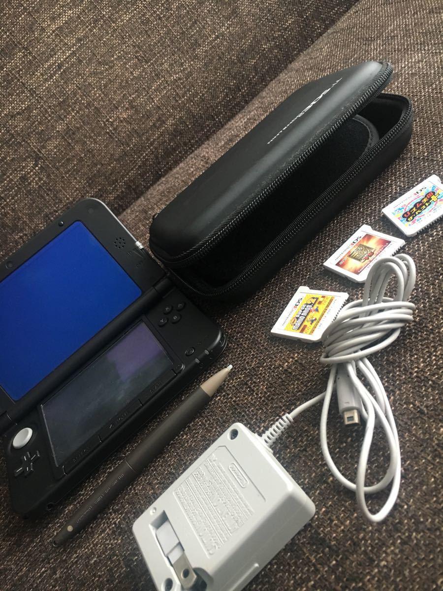 ニンテンドー3DS LL ブラック ソフト4本付