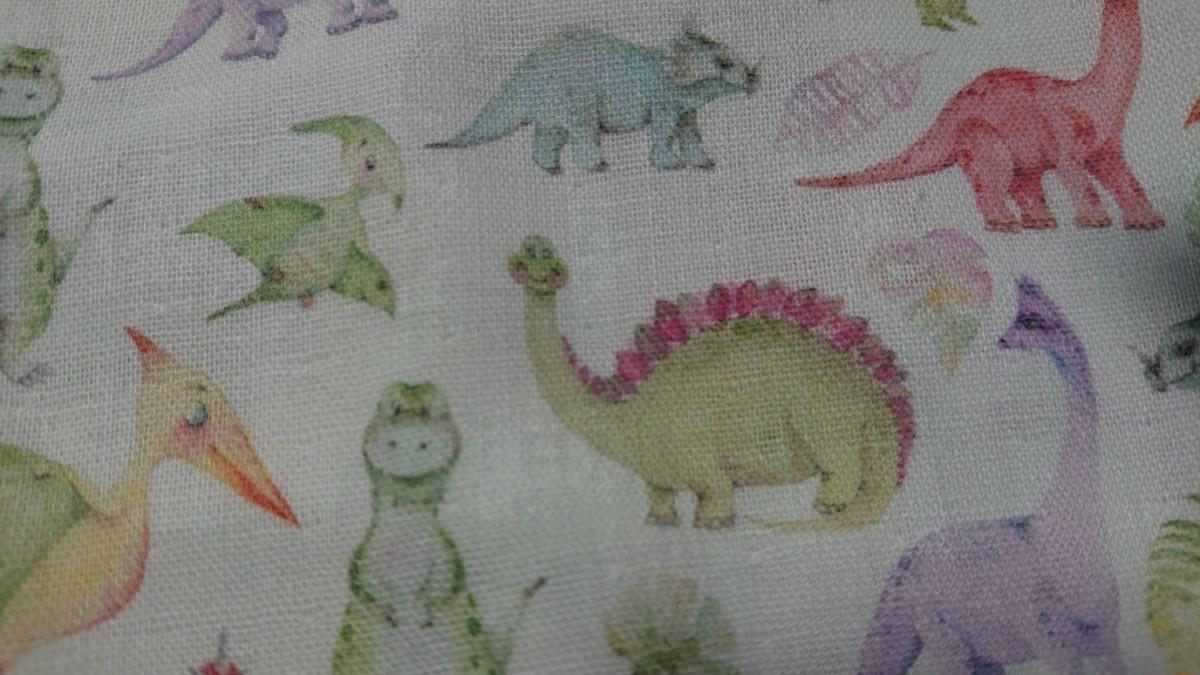 恐竜コレクション ダブルガーゼ パステルカラー恐竜