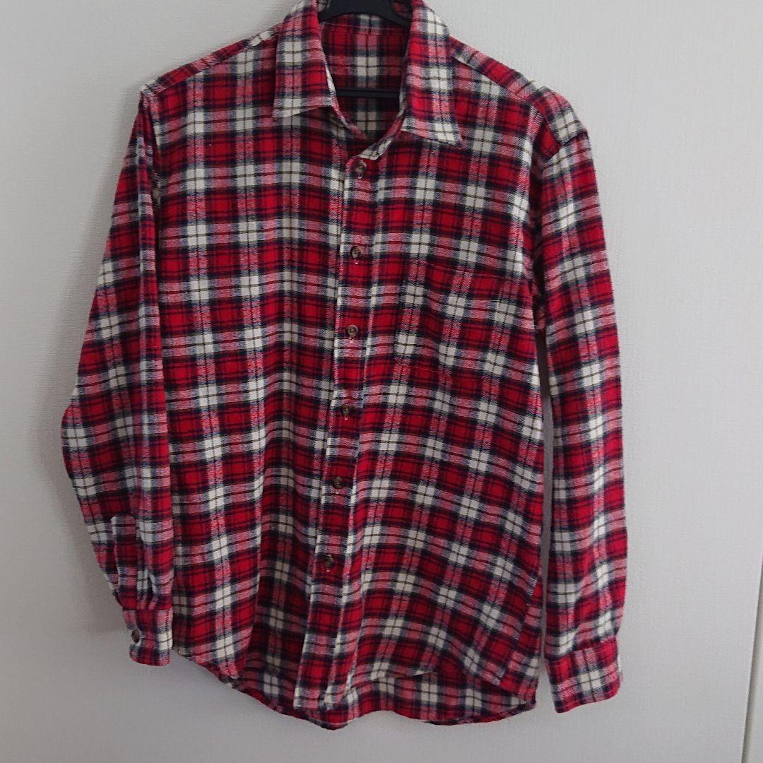 チェック柄 長袖シャツ