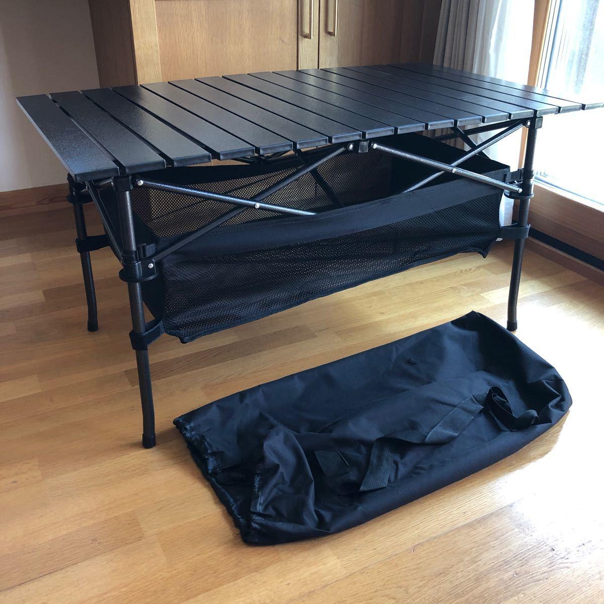 軽量アルミ折りたたみテーブル アウトドアテーブル 95x55x50cm