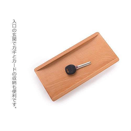 送料無料 Hexun コイントレー 木製 キャッシュトレイ 会計盆 ペントレイ木製 小物置き トレー 多機能おしゃれトレー 長方形 (ナチュラル)_画像5