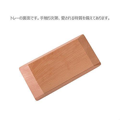 送料無料 Hexun コイントレー 木製 キャッシュトレイ 会計盆 ペントレイ木製 小物置き トレー 多機能おしゃれトレー 長方形 (ナチュラル)_画像3
