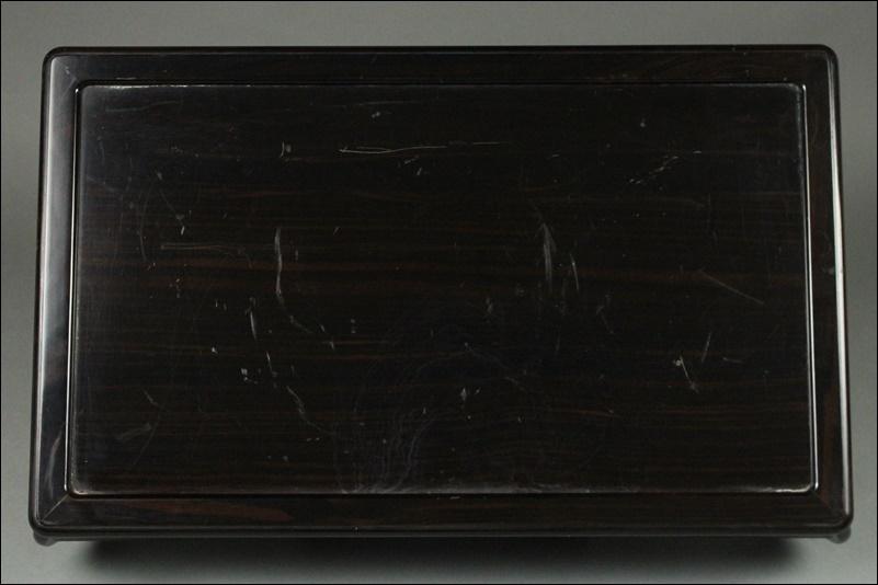 中国美術 唐木造 四足花台 長方卓平卓【幅55,5cm】煎茶道具 置台飾台香炉台唐木台 紫檀黒檀花梨 唐物時代物 中国古玩 古民具 古美術 骨董品_画像7