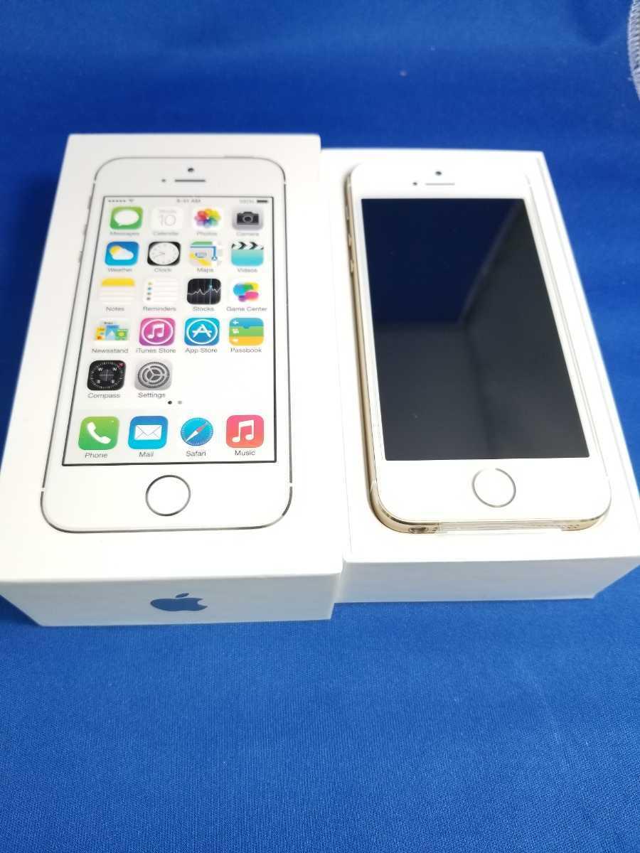 送料無料★SoftBank iPhone 5S 16G新品未使用品 ゴールド_画像1