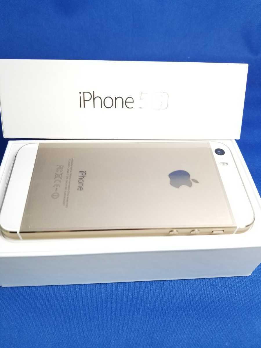 送料無料★SoftBank iPhone 5S 16G新品未使用品 ゴールド_画像5
