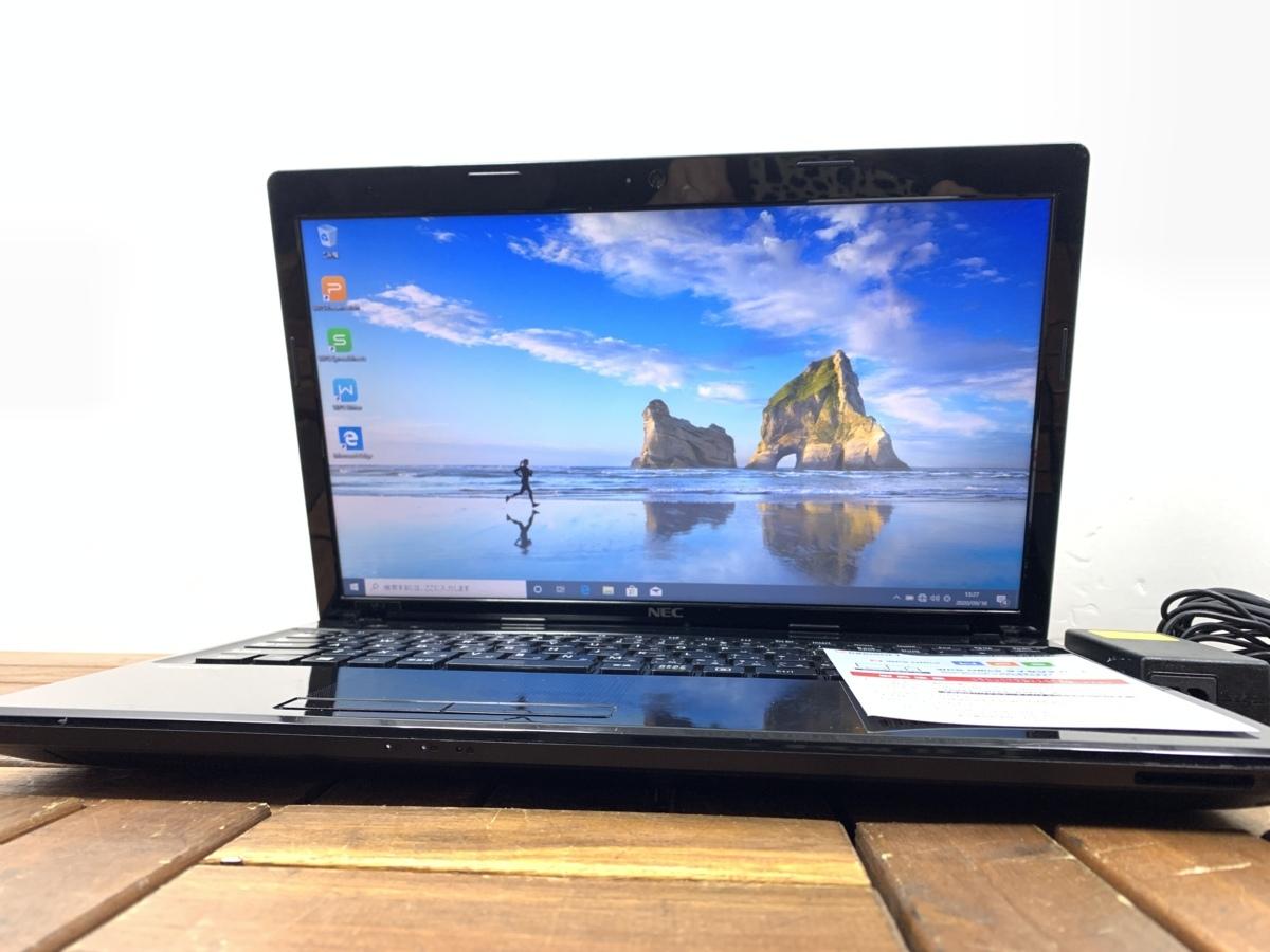 Windows10/office搭載/Webカメラ搭載!ビデオ通話対応【NEC/VersaPro VK19EF】Celeron 1005M/メモリ2GB/新品SSD120GB_画像1