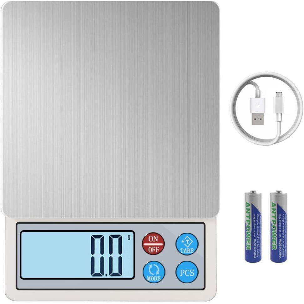 キッチンスケール はかり デジタル USB充電式 デジタルスケール 電子はかり 調理 計量器 0.1g単位 3kg キッチン クッキングスケール