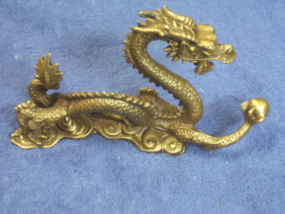 銅製龍 ドラゴン 大きさ;15,3x9,0x4,2cm 重さ;515g_画像2