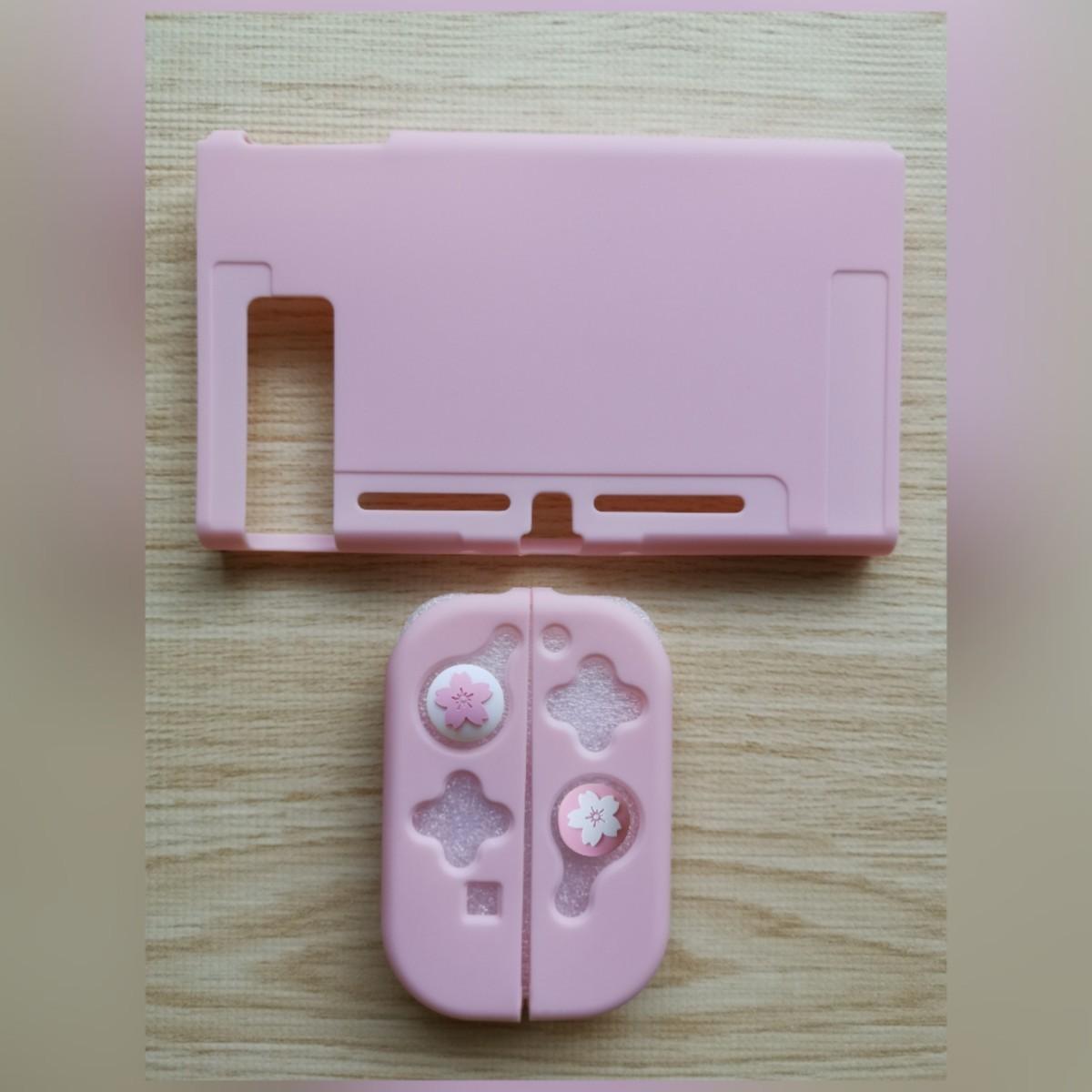 Nintendo switch 任天堂スイッチ スイッチカバー ピンク