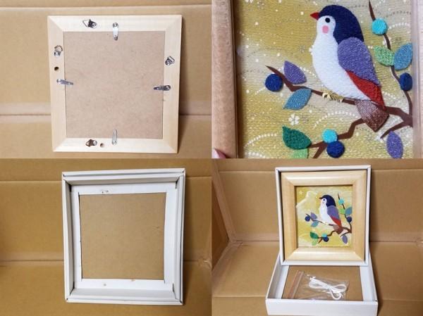 手工芸品 鳥の額 壁飾り 壁掛け_画像6