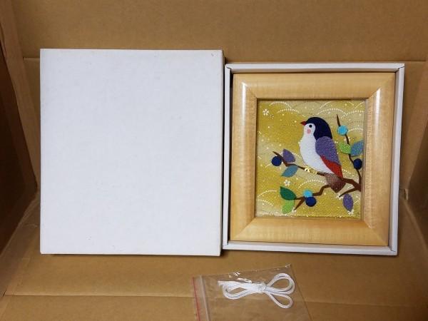手工芸品 鳥の額 壁飾り 壁掛け_画像2