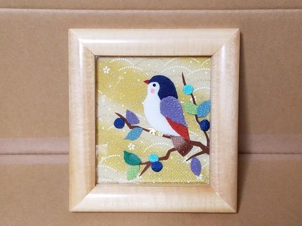 手工芸品 鳥の額 壁飾り 壁掛け_画像1