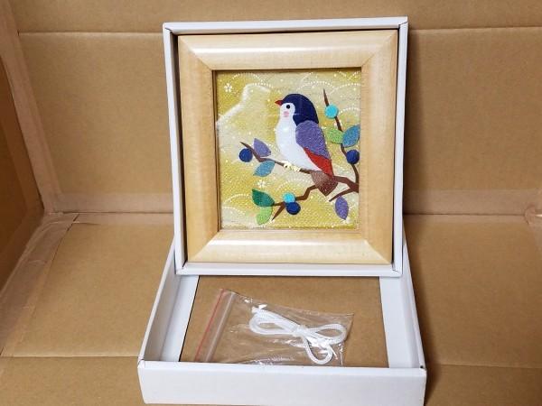 手工芸品 鳥の額 壁飾り 壁掛け_画像4