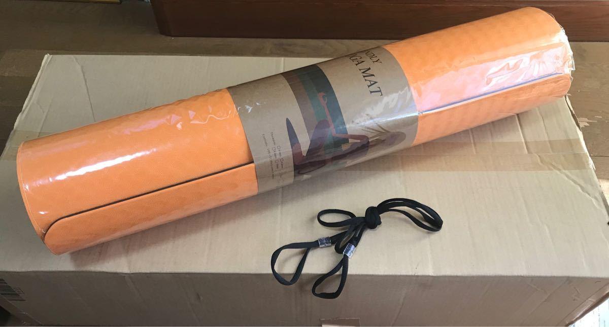 ヨガマット 厚め TPEリング保護材 防音 軽量 収納ケース付 厚さ6mm