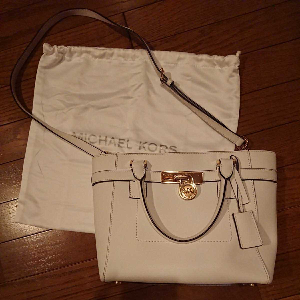 MICHEAL KORS マイケルコース ハンドバッグ ショルダーバッグ 2way カバン 鞄 かばん バッグ バック 白 ホワイト 袋付 ショルダー紐