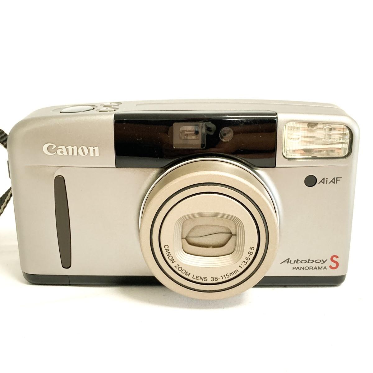 【極美品 完動品】Canon Autoboy S PANORAMA Ai AF 38-115mm 広角~望遠域レンズ パノラマ撮影 キャノン コンパクトフィルムカメラ C424_画像1
