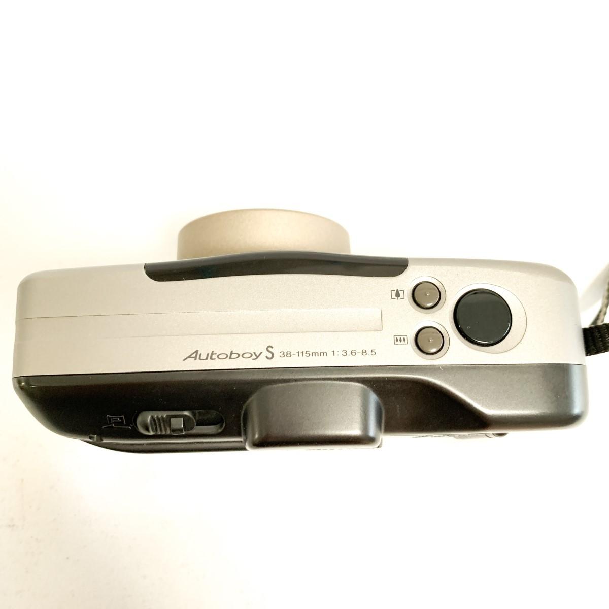 【極美品 完動品】Canon Autoboy S PANORAMA Ai AF 38-115mm 広角~望遠域レンズ パノラマ撮影 キャノン コンパクトフィルムカメラ C424_画像5