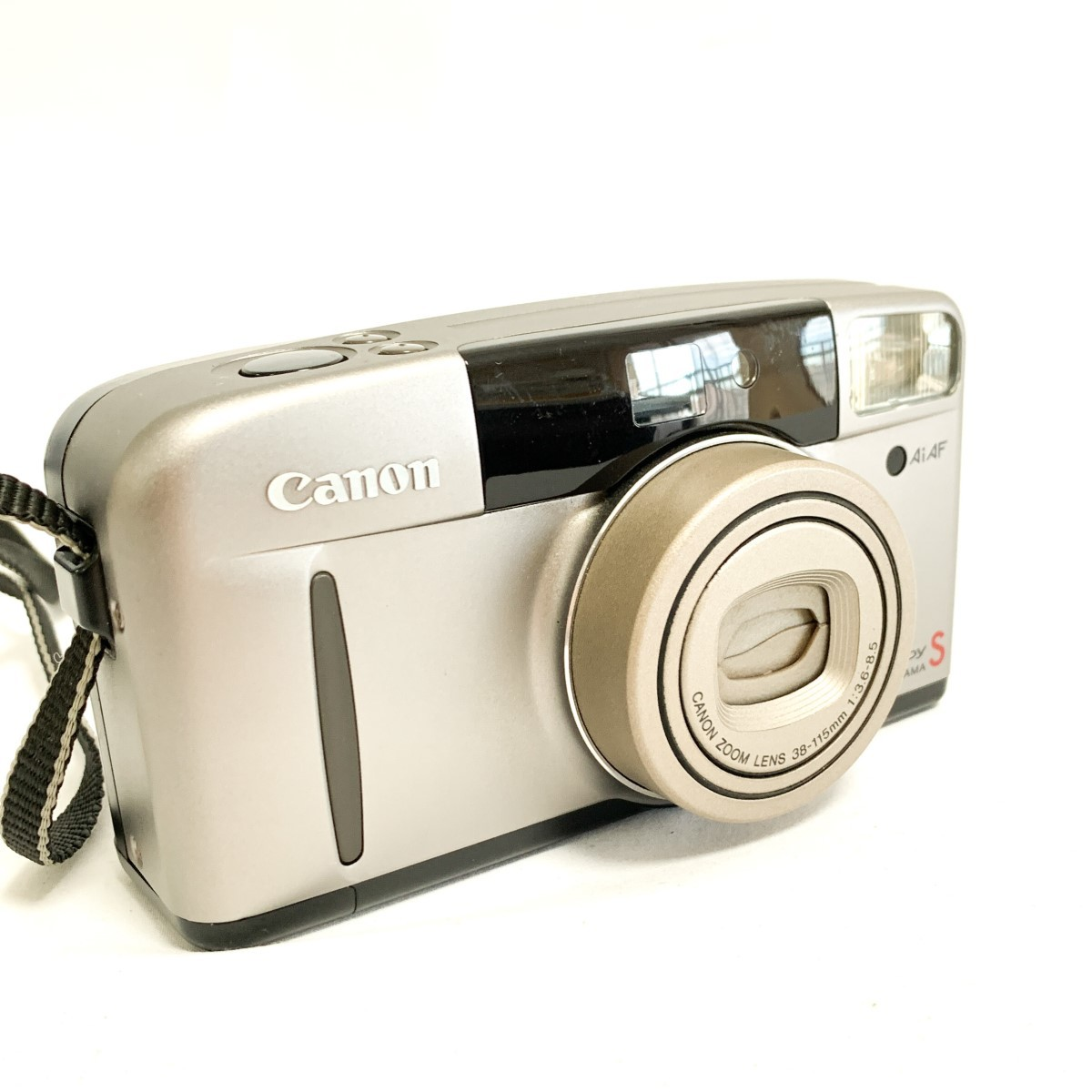 【極美品 完動品】Canon Autoboy S PANORAMA Ai AF 38-115mm 広角~望遠域レンズ パノラマ撮影 キャノン コンパクトフィルムカメラ C424_画像2