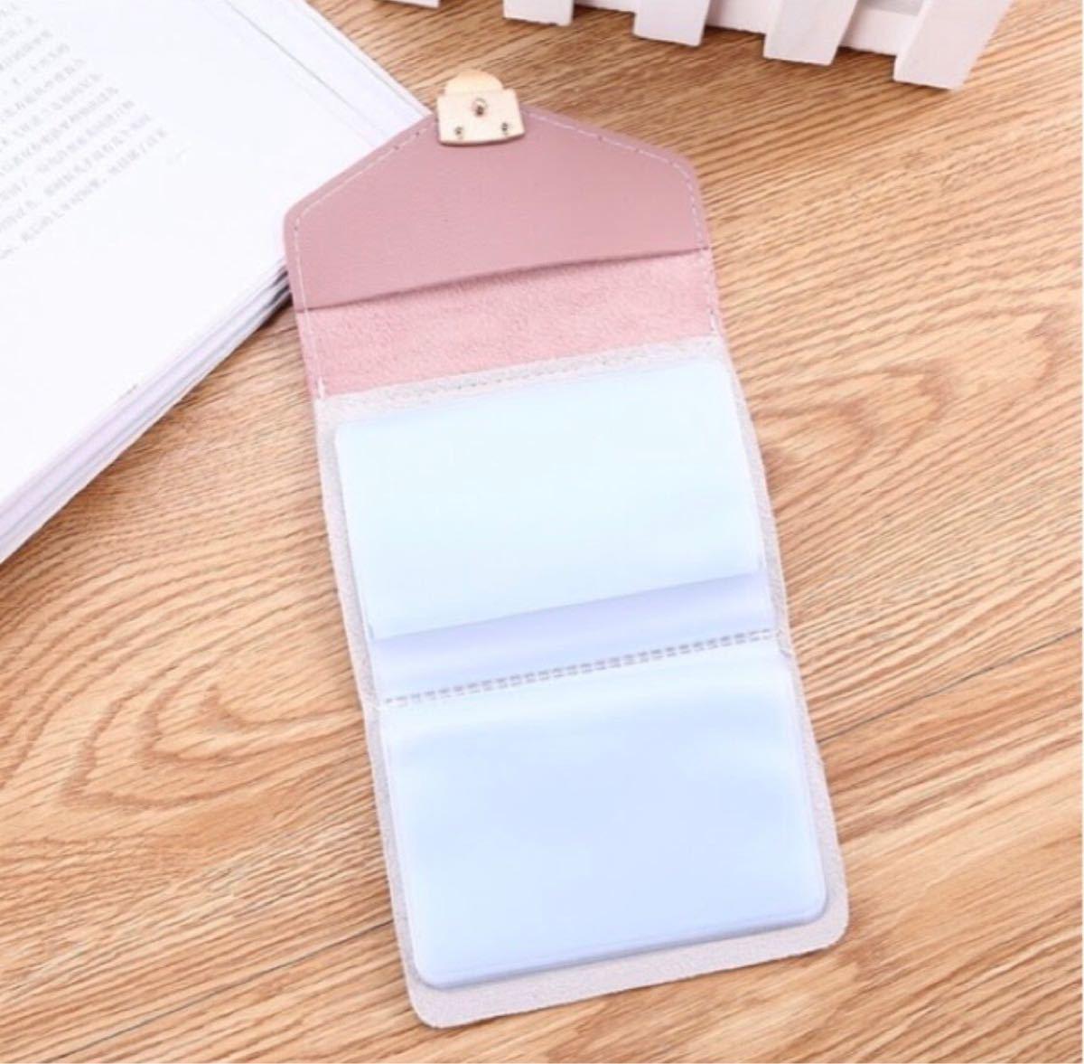 カードケース 定期入れ 名刺入れ おしゃれ かわいい 大容量 カード入れ ピンク
