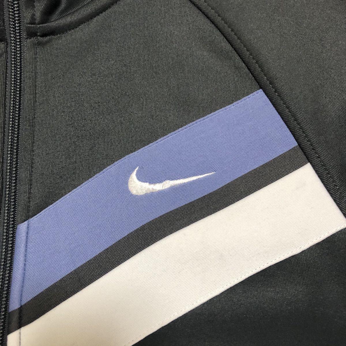 NIKE ナイキ ワンポイント 刺繍ロゴ スウッシュ 切替デザイン ラグランスリーブ ユニセックス トラックジャケット ジョグトップ M 古着