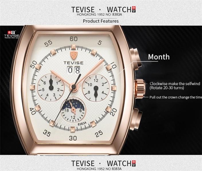 ☆送料無料☆ メンズ高級腕時計 41mm 機械式 自動巻 カレンダー 曜日表示 サン&ムーン 本革ベルト 紳士 ビジネス ファション R/W_画像3