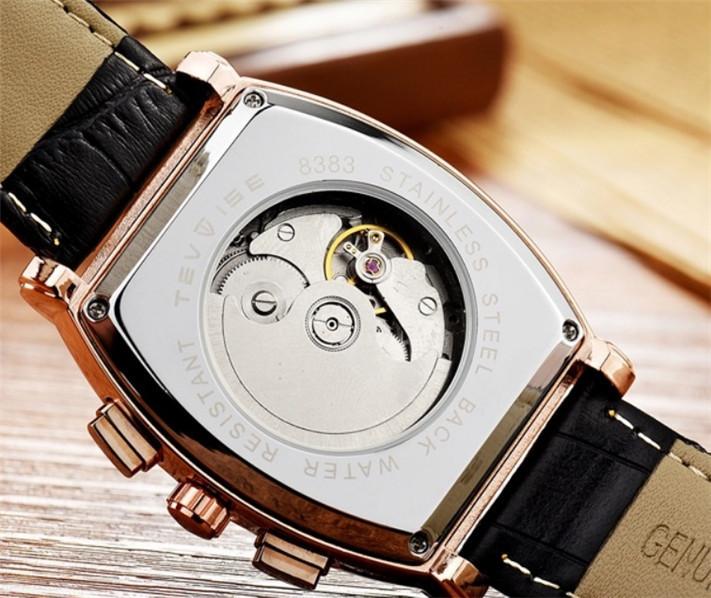 ☆送料無料☆ メンズ高級腕時計 41mm 機械式 自動巻 カレンダー 曜日表示 サン&ムーン 本革ベルト 紳士 ビジネス ファション R/W_画像5