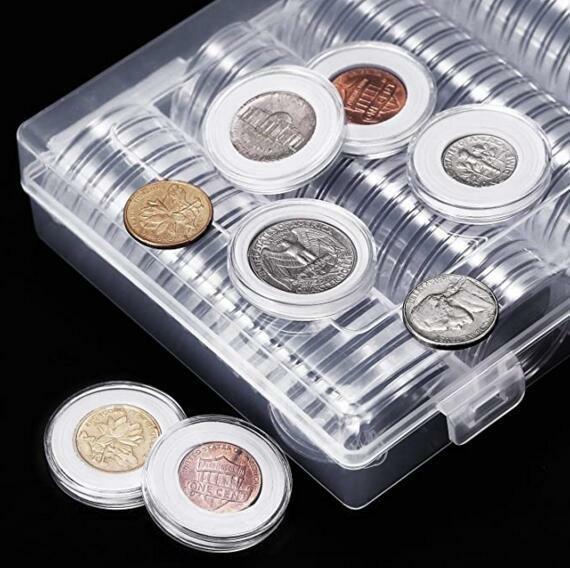 コインカプセル セット コインケース ボックス 記念貨古銭 貨幣 保管 収納