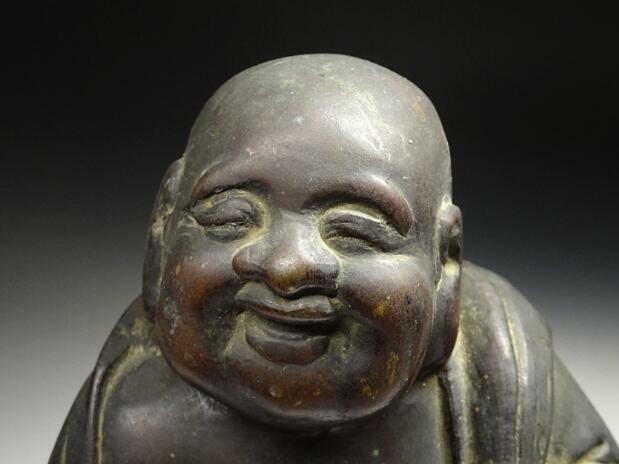 時代物 古銅 布袋 大黒 2点 七福神 古美術 仏教美術 古玩 仏