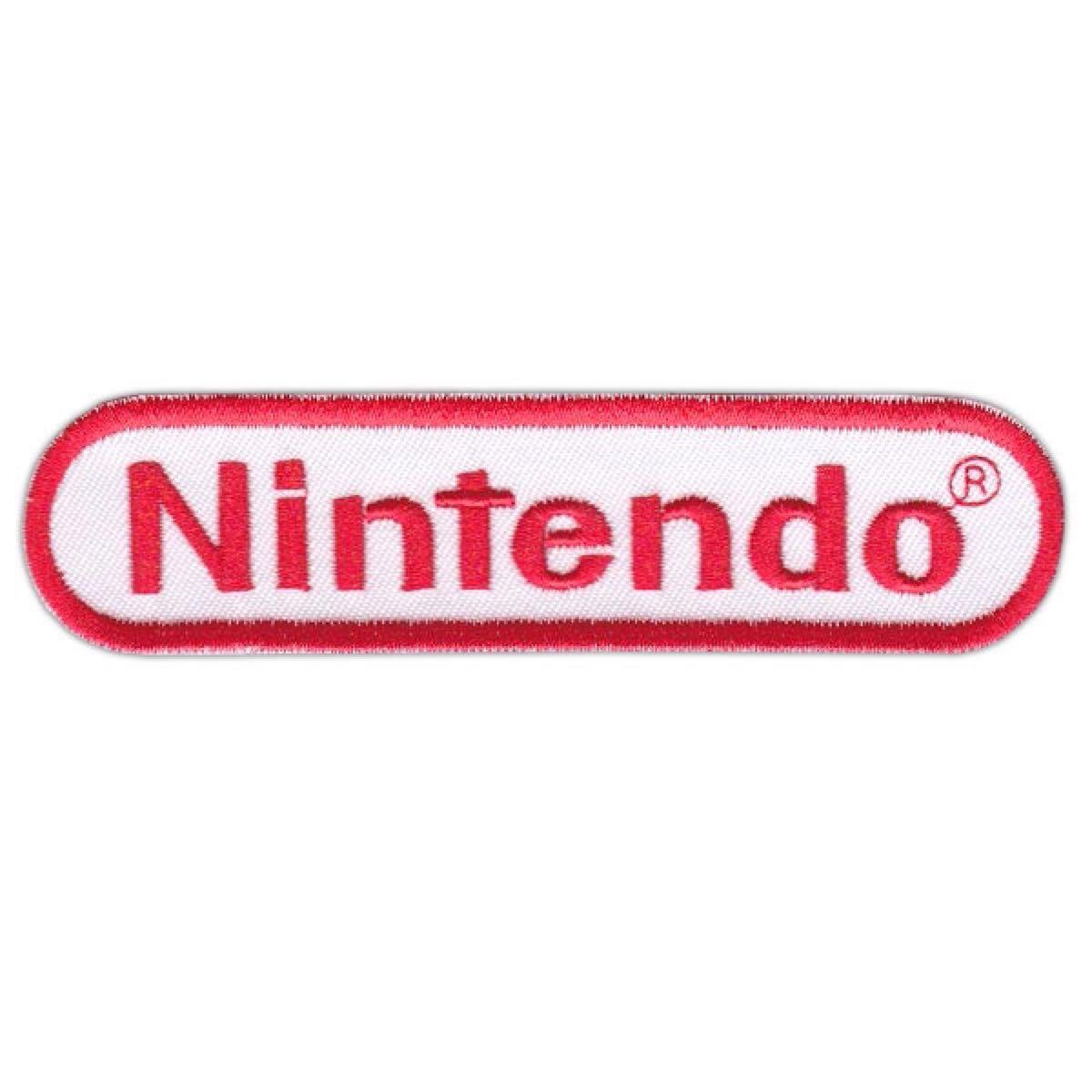 任天堂(Nintendo)■ワッペン■白赤*3枚