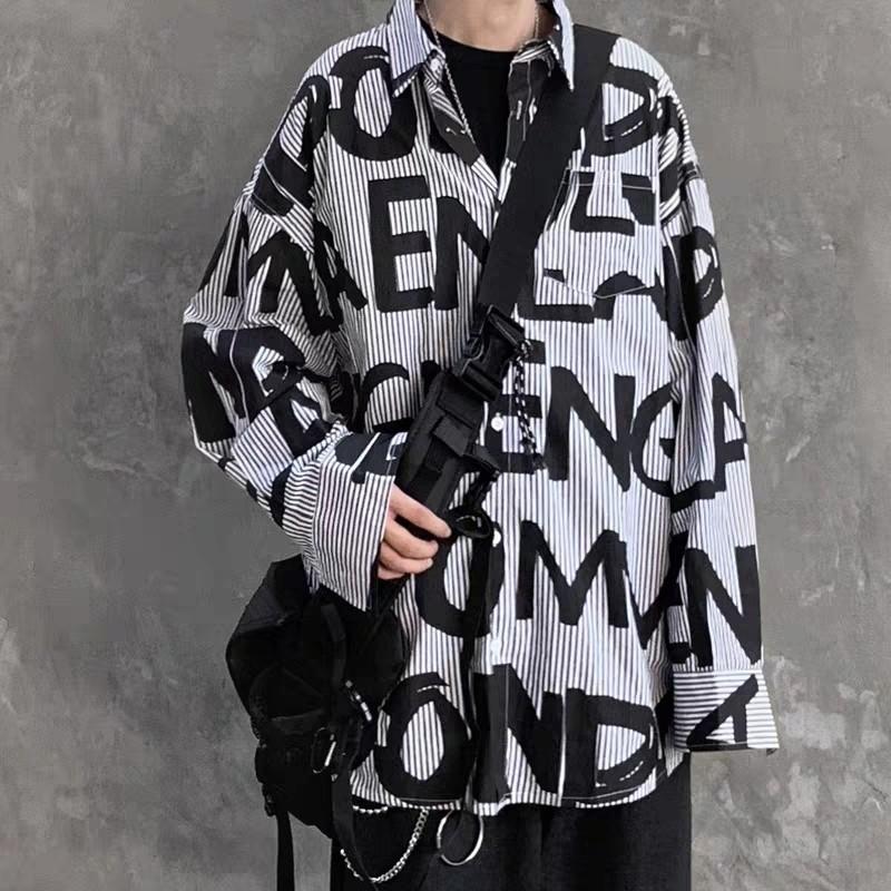 シャツ メンズ メンズシャツ ストライプ オーバーサイズ 大きめ 新品未使用